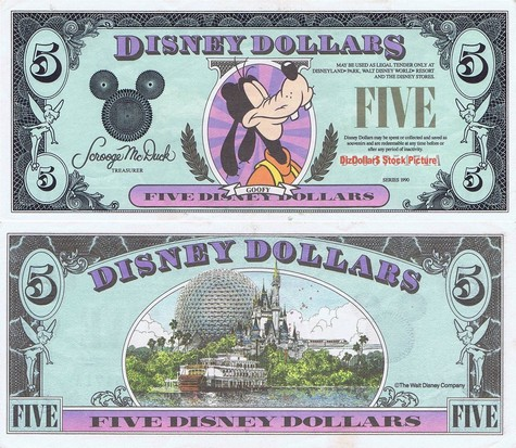Goofy / Disney World $5 - 1990