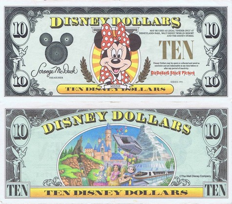 Minnie Mouse / Disneyland Backdrop $10 - 1991