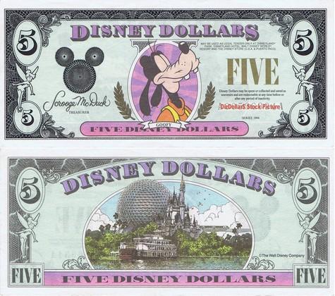 Goofy / Disney World $5 - 1994
