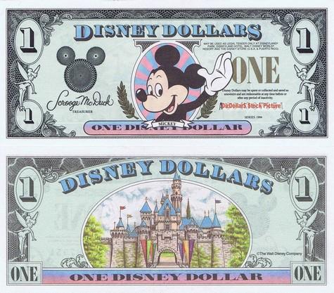 Waving Mickey / Sleeping Beauty's Castle $1 - 1994