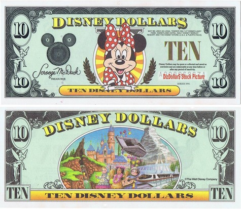 Minnie Mouse / Disneyland Backdrop $10 - 1996
