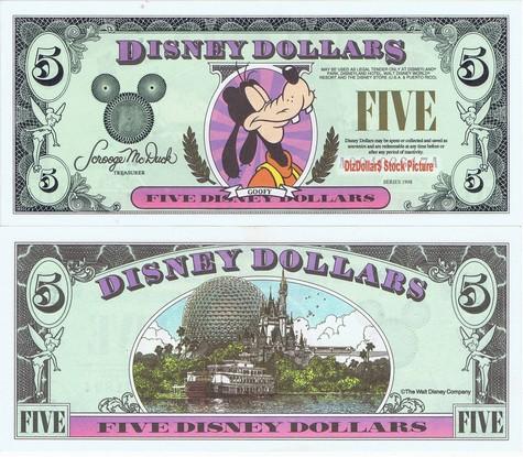 Goofy / Disney World $5 - 1998