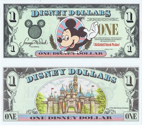 Mickey / Disneyland Castle $1 - 1998