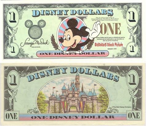Mickey / Sleeping Beauty's Castle $1 - 1999