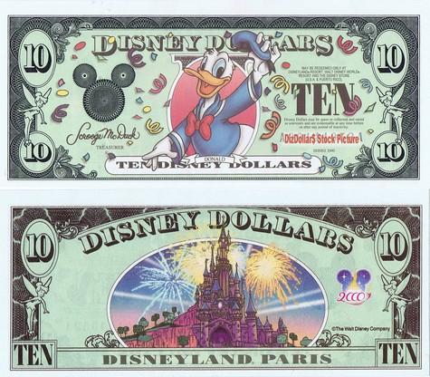 Millennium Donald / Disneyland Paris $10 - 2000