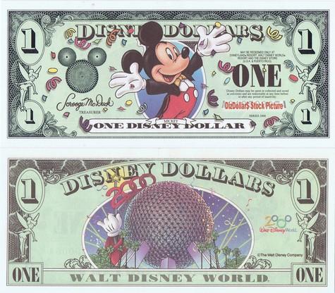 Millennium Mickey / Walt Disney World $1 - 2000