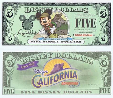 Backpacking Mickey / California Adventure Park $5 - 2001