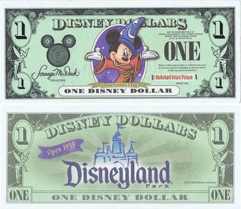 Sorcerer Mickey / Disneyland Park $1 - 2001