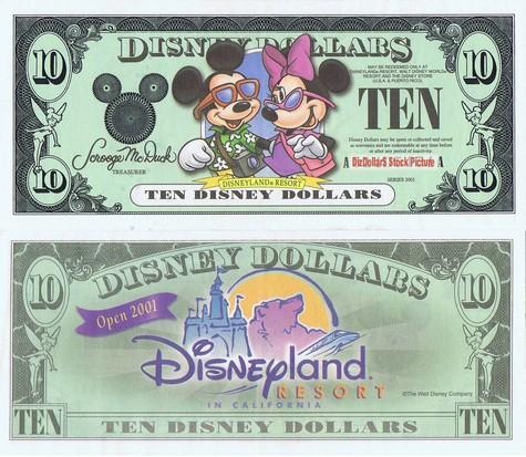 Tourists Mickey and Minnie / Disneyland Resort $10 - 2001