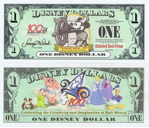 Steamboat Willie / 100 Years of Magic $1 - 2002