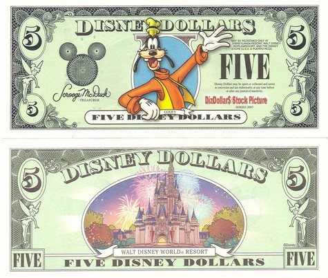 Goofy / Disney World Resort Castle $5 - 2003