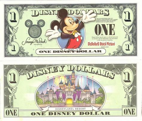 Mickey / Disneyland Resort Castle $1 - 2003