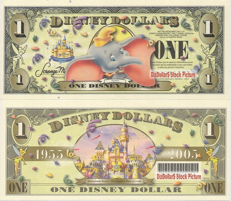 Dumbo / Cinderella's Castle (w barcode) $1 - 2005