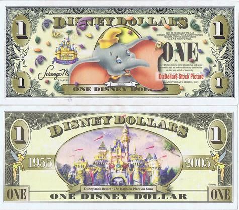 Dumbo / Cinderella's Castle (NO barcode) $1 - 2005