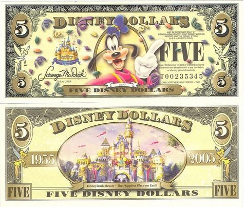 Goofy / Cinderella's Castle $5 - 2005