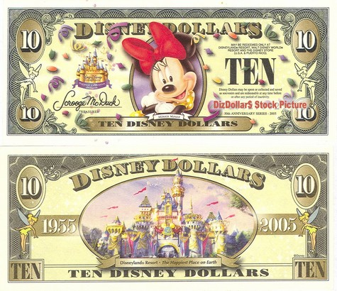 Minnie Mouse / Cinderella's Castle $10 - 2005