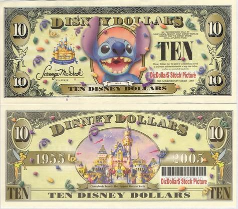 Stitch / Cinderella's Castle (w barcode) $10 - 2005