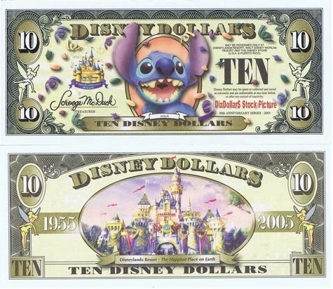 Stitch / Cinderella's Castle (NO barcode) $10 - 2005