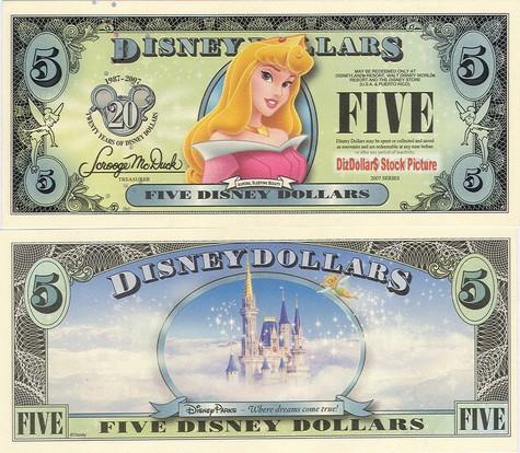 Aurora (Sleeping Beauty) / Disneyland Castle $5 - 2007