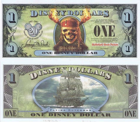 Pirates of the Caribbean: Dead Man's Chest / Flying Dutchman Ship $1 - 2007