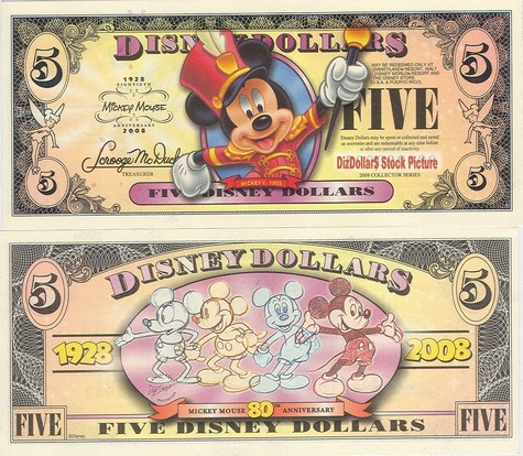 Boyer's Bandleader Mickey Mouse / Mickey Mouse's 80th Anniversary $5 - 2008