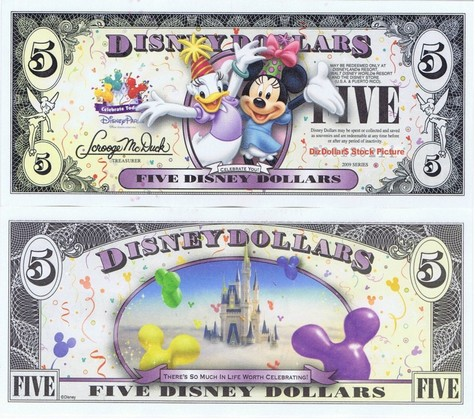 Daisy & Minnie / Cinderella's Castle in Clouds $5 - 2009