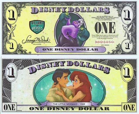 Ursula & The Little Mermaid (Ariel) $1 - 2013