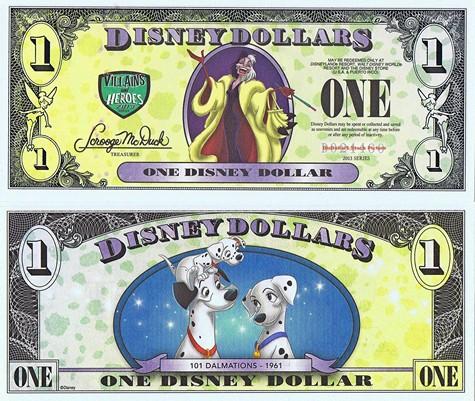 Cruela & 101 Dalmatians/ DalmatiOns $1 - 2013