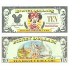 "1998 ""A"" $10 UNC Disney Dollar - Minnie front with Disneyland on back - Fab 3 Series from Disneyland ~ © DizDollars.com"