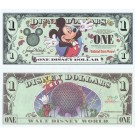 "DIZDOLLARS.com 2000 ""A"" $1 Disney Dollar - Millennium Mickey - Disney World back - ""A"" Series from DIsneyland ~ © DizDollars.com"