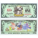"2002 ""D"" $1 UNC Disney Dollar - Steamboat Willie front with 100 Years of Magic on back - 100 Years of Magic Series from Disney World ~ © DizDollars.com"