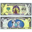 "2013 ""D"" $1 MINT UNC 4 DIGIT RARE Disney Dollar - Cruella De Vil front with 101 Dalmations (ERROR instead of Dalmatians) with Pongo and Perdita on back - Villains & Heroes series from Disney World ~ © DizDollars.com"