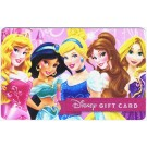 Disney Princesses Gift Card with Aurora, Belle, Cinderella, Jasmine & Rapunzel © Dizdollars.com