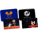Set of Disney Star Wars Weekends Gift Cards With Cases Limited Edition ~ 2014 REBEL RENDEZVOUS & 2015 Galactic Gathering © Dizdollars.com
