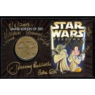 """BOUNTY HUNTERS"" Exclusive 2003 Disney Star Wars Collectors Bronze Coin With 4 Star Wars Weekends Autographs © Dizdollars.com"