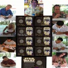 All 8 Star Wars Weekends 2003 Nickel Silver coins and Autographers ~ © DIZDollars.com