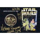 Star Wars Weekends 2003 Triple Autographed Gold Coin Front © Dizdollars.com