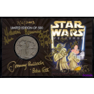 "Front of the ""BOUNTY HUNTERS"" Exclusive 2003 Disney Star Wars Collector Nickle Silver Coin ~ with 5 Star Wars Weekends Autographs © Dizdollars.com"