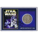 Autographed By Actor Kenny Baker Disney's Star Wars Weekends 2001 R2-D2 & Sorcerer Mickey Nickle Silver Classic Collectors Coin © Dizdollars.com
